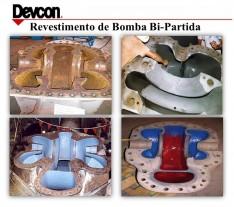 Revestimento de bomba bi-partida